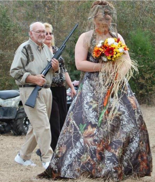 Невеста и ее охрана.