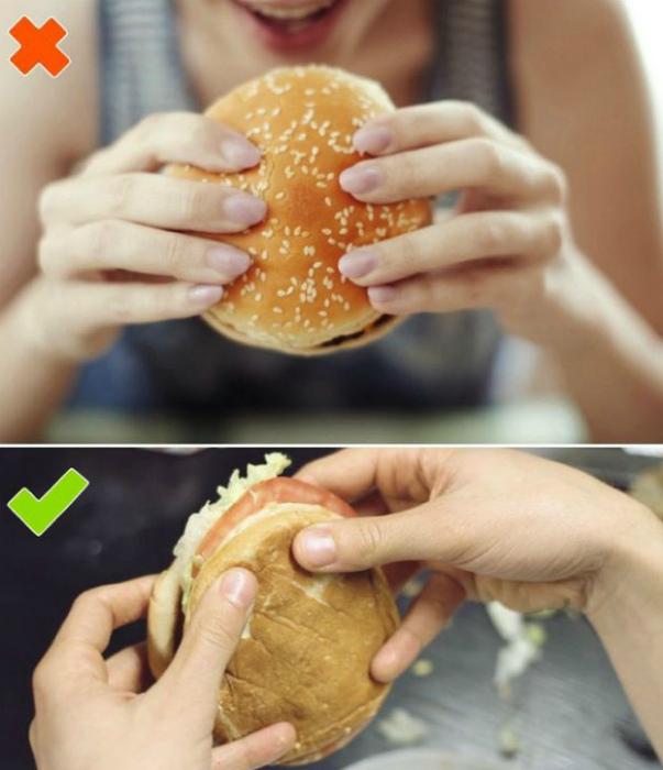 Поедание бургера. | Фото: Умкра, Citron Utile.