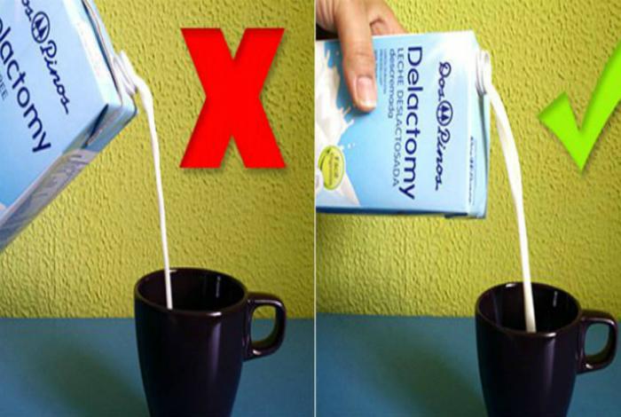 Правильно наливаем напитки из коробок.