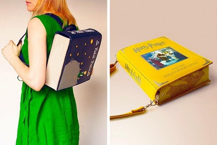 Сумки и рюкзаки в виде книг.