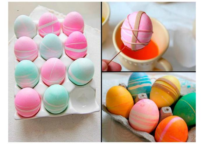 Яйца в полоску.