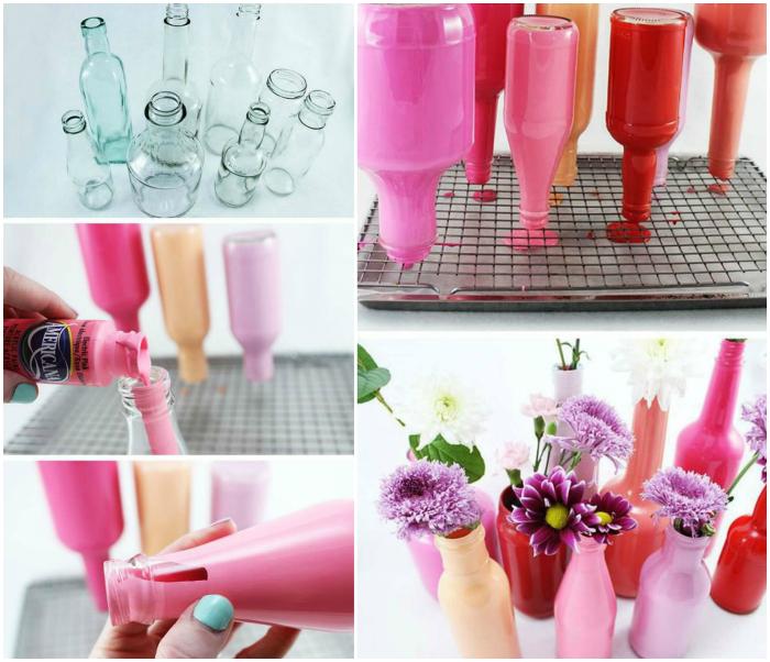 Яркие вазочки для цветов.