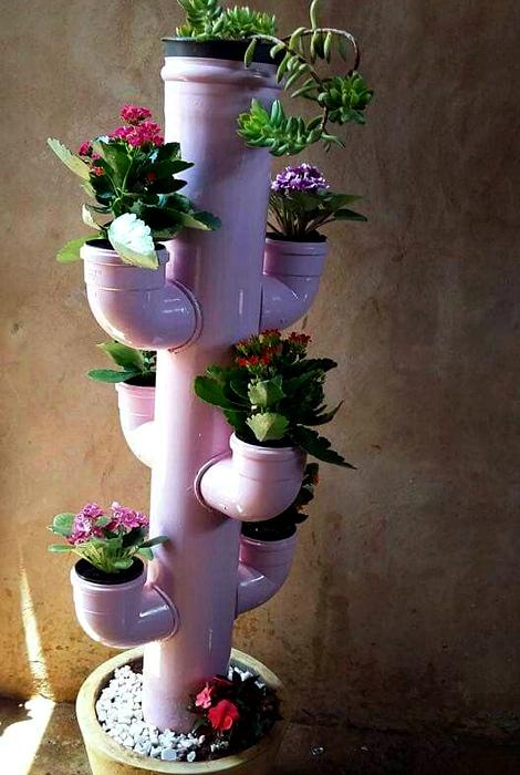 Конструкция для цветов. | Фото: Pinterest.