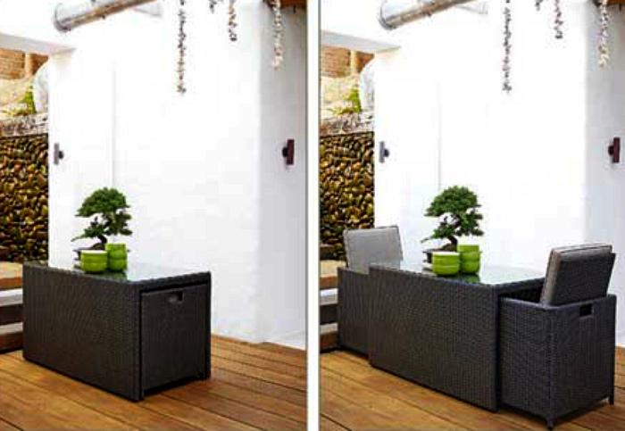 Комплект мебели для обеденной зоны.