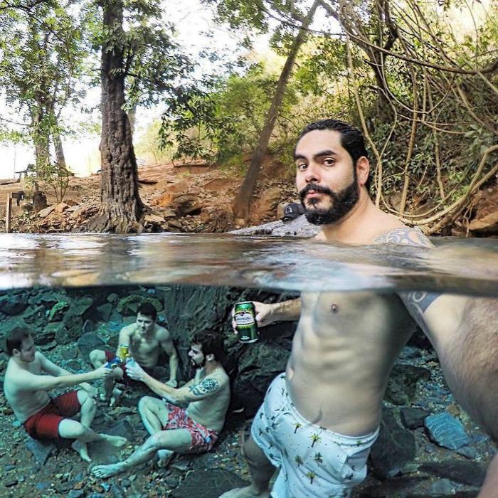 Пикник под водой.