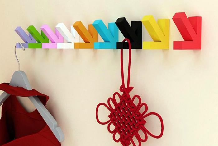 Крючки для одежды. | Фото: Идеи вашего дома.