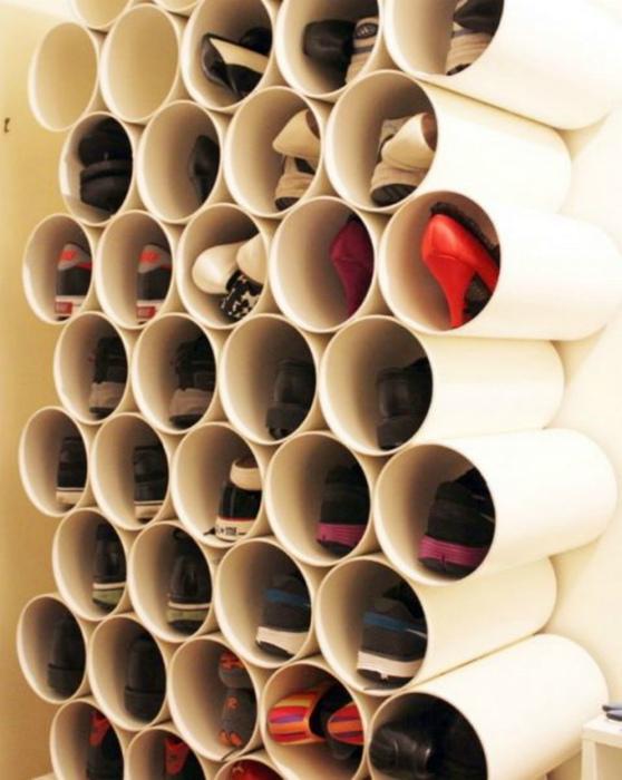 Самодельный органайзер из труб. | Фото: Interesno.cc.
