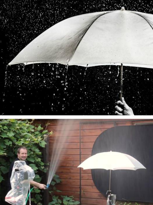 Штучний дощ.