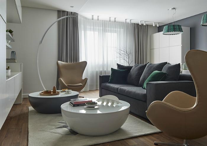 Гостиная в современном стиле.