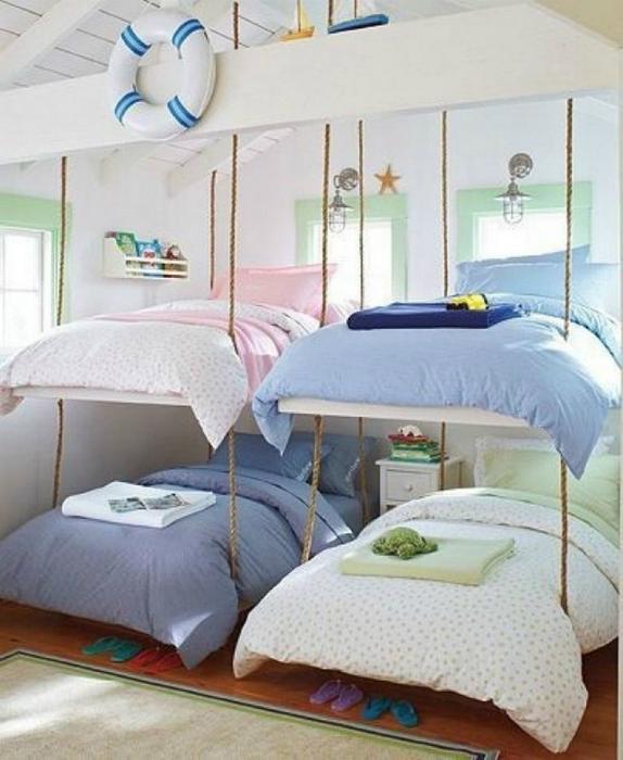 Детская спальня в морском стиле.