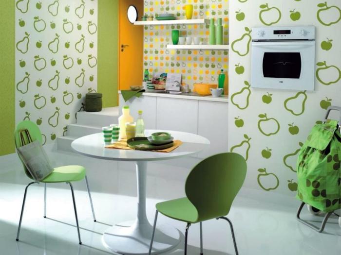 Яркие сочетания в интерьере кухни.   Фото: archidea.com.ua.