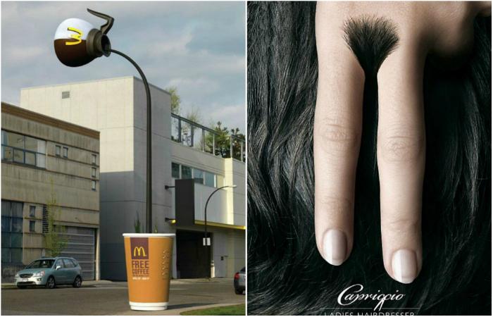 Примеры оригинальной и забавной рекламы.