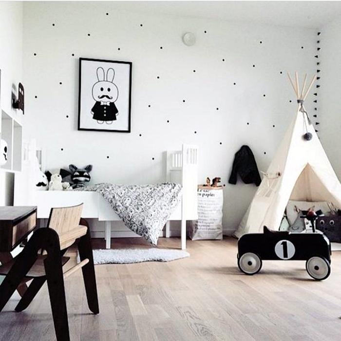 Детская комната в скандинавском стиле.