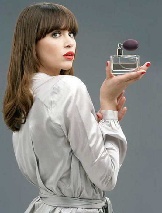 Хитрый способ ношения парфюма.