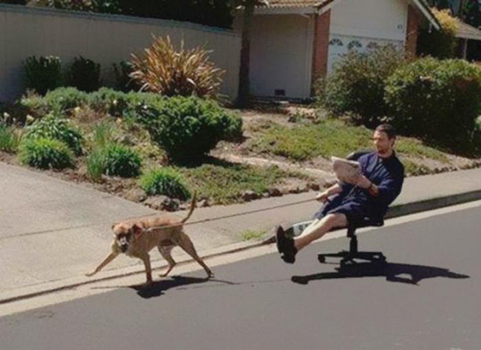 Прогулка с собакой.
