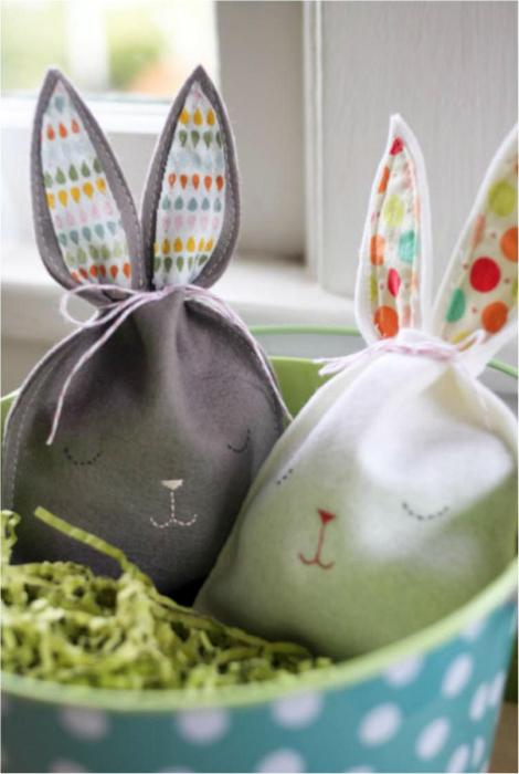 Мешочки в виде кроликов.