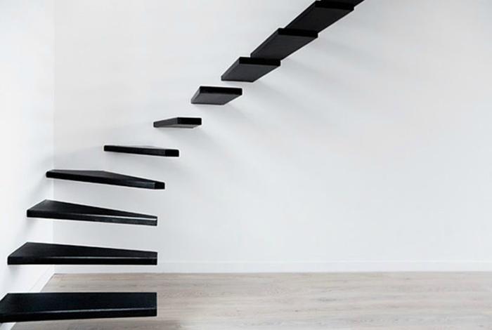 Консольная лестница в стиле минимализм.