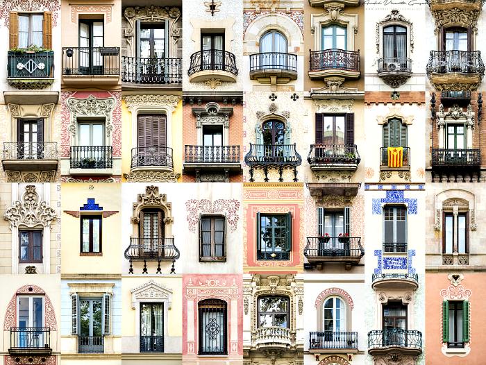 Окна Барселоны, Испания.