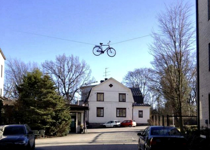 Велосипед прилетел.