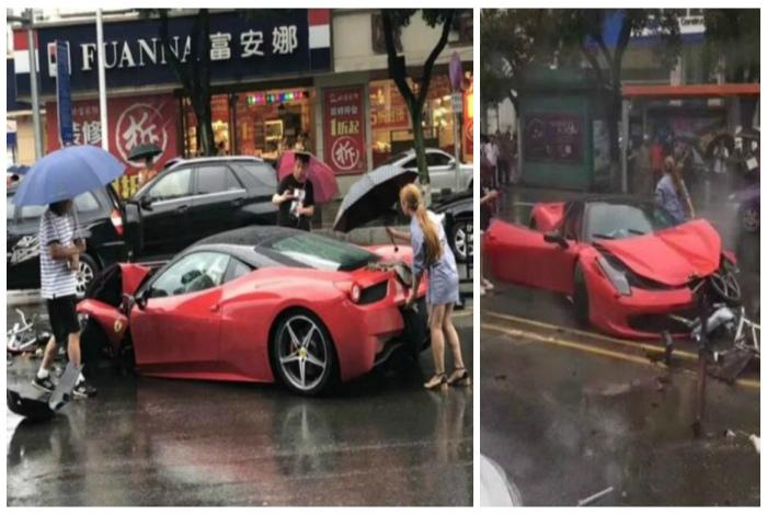 Машинку жалко.