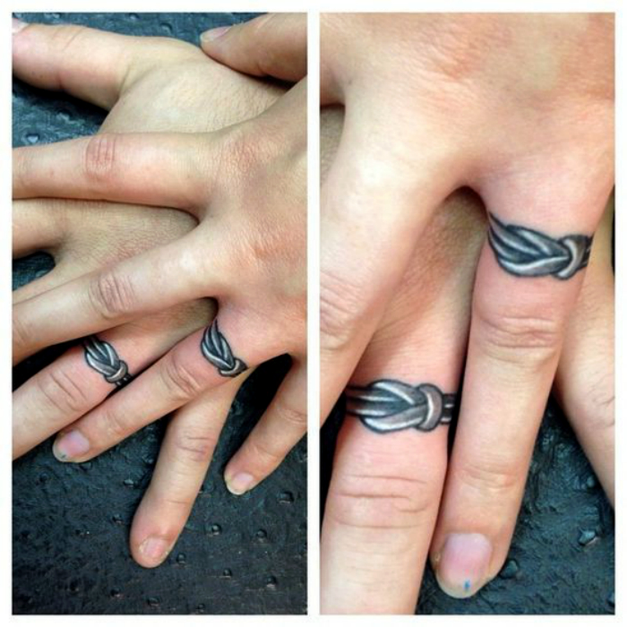 обручальные кольца тату фото