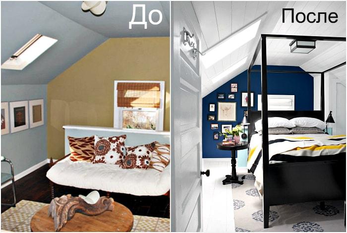 Яркий дизайн спальни.