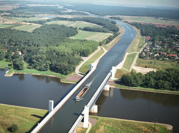 Акведук в Магдебурге.
