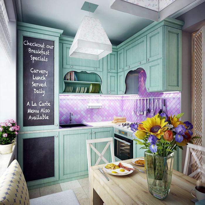 Очаровательная кухня в стиле прованс.