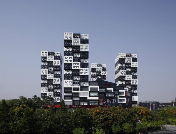 Модульный небоскреб. Китай.