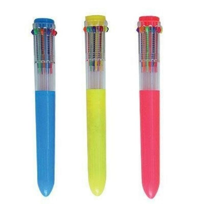 Шариковые ручки с десятью, переключающимися  стержнями казались настоящей фантастикой.