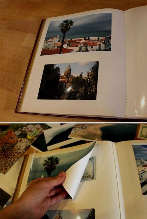 Заначка в альбоме с фотографиями. | Фото: Instructables.