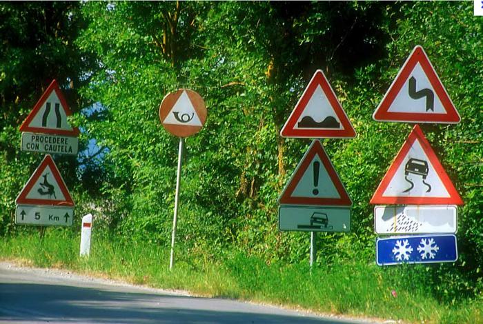 Разнообразие знаков.