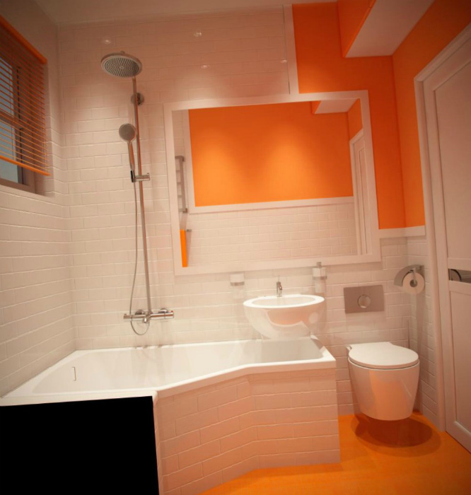 Угловая ванна и раковина. | Фото: Яндекс.
