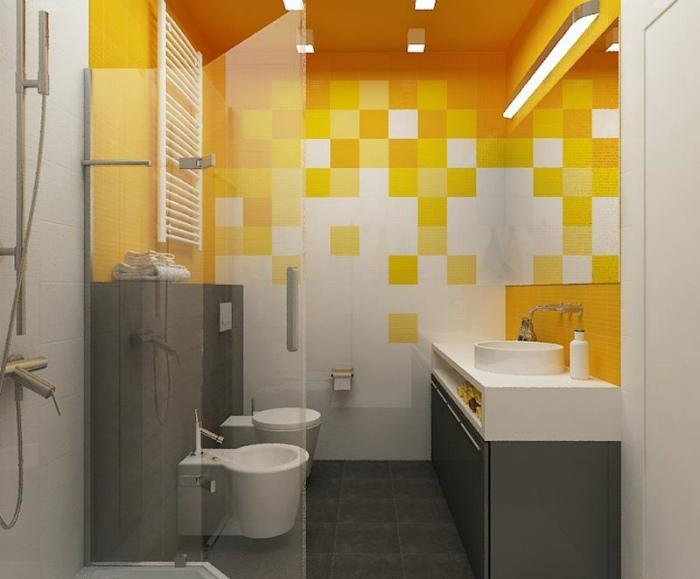 Оригинальное оформление стен ванной. | Фото: Pinterest.