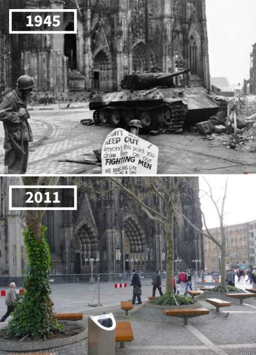Кельнский собор, Германия, 1945 - 2011.