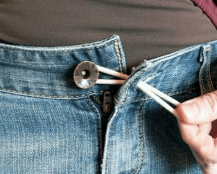 Резинка для увеличения джинсов.