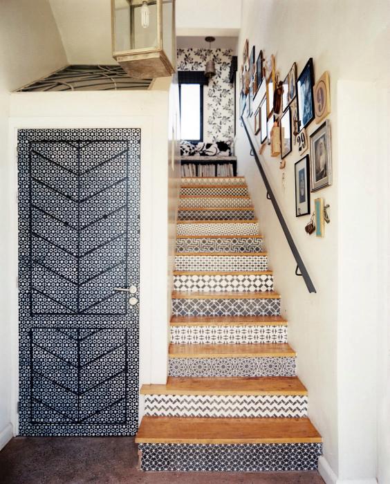 Декор ступеней лестницы.