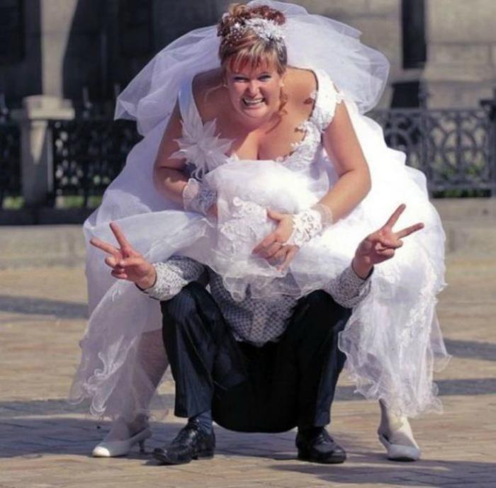 Эффектное появление невесты.