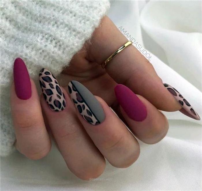Ногти с леопардовым принтом. | Фото: Pinterest.