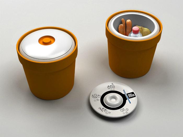 Контейнеры для хранения продуктов.