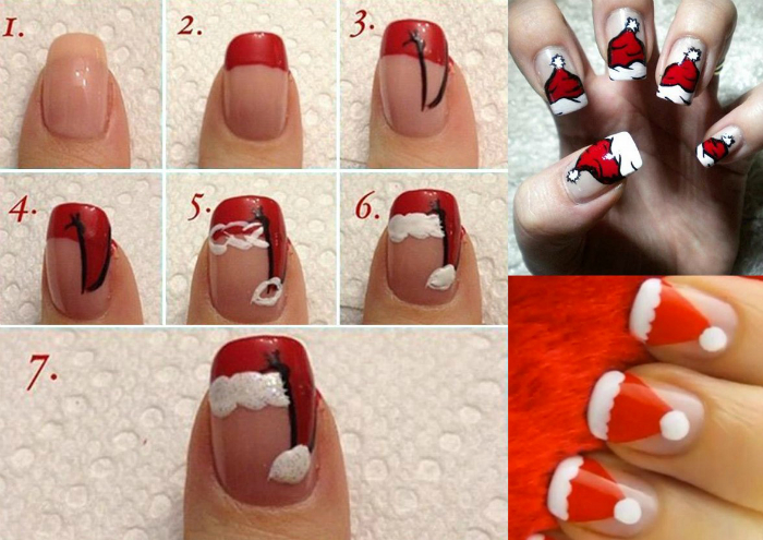 Пошаговая инструкция, которая поможет «нарядить» ногти в яркие шапочки.