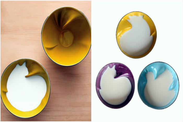 Набор керамических чашек.