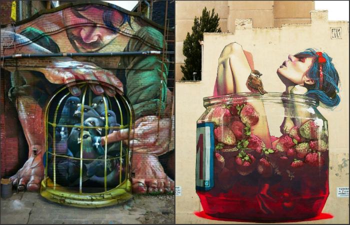 Стрит-арт рисунки, которые несут глубокий смысл.