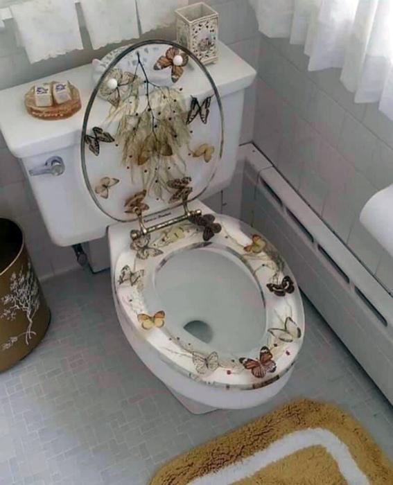 Красивый дизайн туалетного сиденья. | Фото: Reddit.