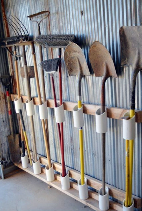 Держатель для садового инструмента. | Фото: Pinterest.