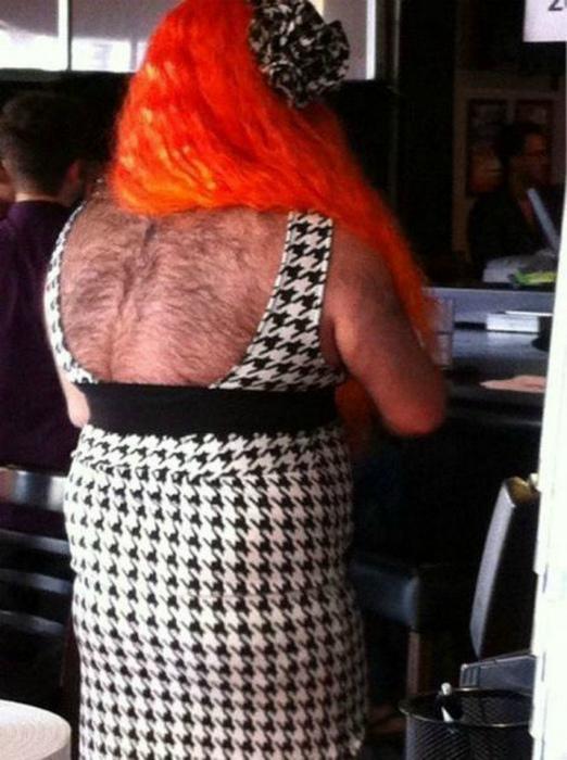 Русалочка Ариэль с волосатой спиной.