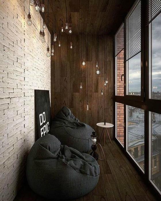 Фантастический балкон в стиле лофт. | Фото: Zasya Home.