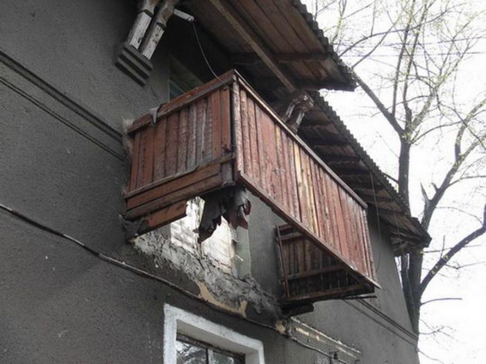 Экстремальный балкон без дна.