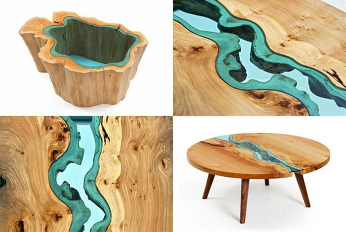 Креативная мебель из дерева и стекла от дизайнера Грега Классена.