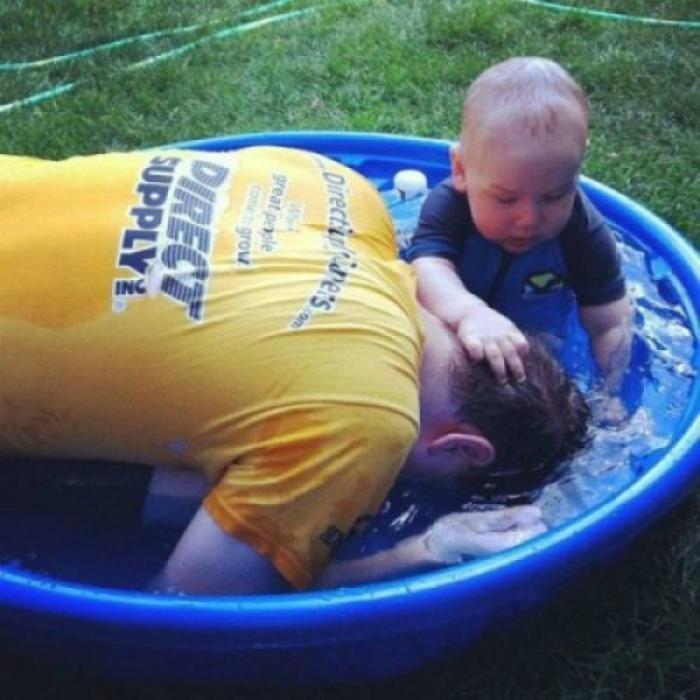 Любовь сына к отцу.